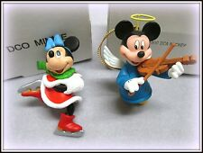 2 GROLIER DISNEY 1ST ED. MAGIC OF CHRISTMAS ORN. MICKEY 001900 & MINNIE 011904
