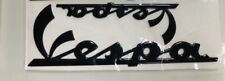 VESPA GTS GT S LX 50 125 200 250 300 Black Self Adhesive Legshield & Panel Badge