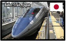 TRAINS (BULLET TRAIN, JAPAN) - SOUVENIR NOVELTY FRIDGE MAGNET - BRAND NEW