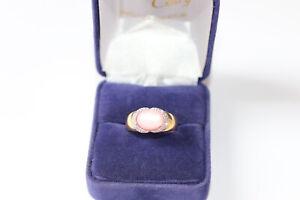 Bague 2 ors diamants pierre Rose iridescente
