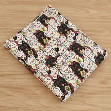 Kawaii Japanese Fortune Cat Cotton Fabric DIY Bag Cloth Sewing Handmade Craft