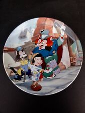 "Knowles Walt Disney "" Its An Actors Life For Me "" Pinocchio Series Plate In Box"