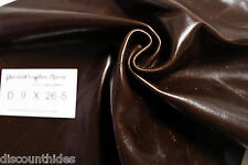 Sm leather piece: Brownie Batter. Smooth grain, high sheen. Appx 2 sqft. D9X26-5