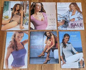 Lot of Six Victoria's Secret 2001 Catalogs, Veronica Varekova Covers