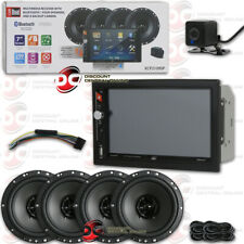 "DUAL 2-DIN 7"" DIGITAL MEDIA CAR STEREO USB BLUETOOTH + BACK UP CAMERA + SPEAKERS"