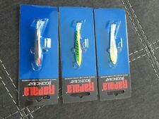 Lot of 3 W7 Rapala Jigging Raps silver glow and fire tiger 5/8 oz great colors!