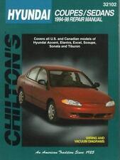 Chilton repair manual 32102 Hyundai Coupes and Sedans, 1994-98