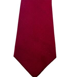 Couture By X Andrini Men's Neck Tie Burgundy Solid 100% Silk Handmade