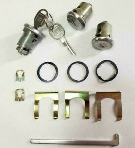 NEW 1969-1979 Chevy II Nova Door & Trunk Lock set with GM Keys