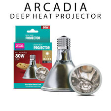Arcadia Deep Heat Projector 80 Watt - Provides Essential Infra-Red A and B