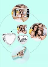 PERSONALISED MESSAGE CHARM LOVE ENGRAVED 925 GENUINE REAL STERLING SILVER PHOTO