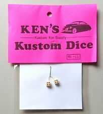 CREAM w BLACK DOTS DICE 1:24 1:25  KEN'S KUSTOM CAR MODEL ACCESSORY D11
