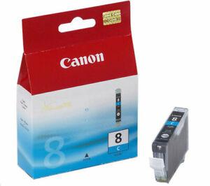 GENUINE AUTHENTIC CANON 8 CYAN INK CARTRIDGE CLI-8C PIXMA