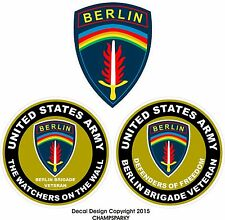 United States Army Berlin Brigade Veteran USA LOT OF 3 Decal Stickers