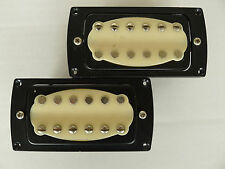 Pair Alnico 50/52 Jazz Guitar Humbucker Pickups---8.4k/8.8k/Black/Cream
