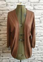 joules brown cardigan 10 uk modal cotton  women's ladies