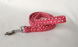 Handmade Christmas Fabric Dog Lead