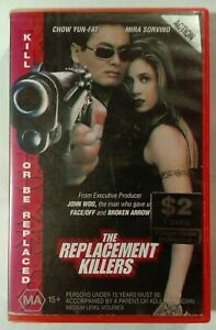 The Replacement Killers VHS 1998 Antoine Fuqua Chow Yun-Fat Col/Tri-Star Large