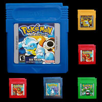 2017 New Pokemon Cartridge For Nintendo Game Boy Color 7 Version Yellow/Gold/Red