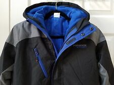 Brand New Hawke & Co. Outfitter 3-In-1 Hooded System Boy Jacket Black/Blue 10/12