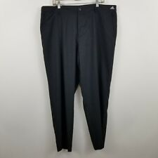 Nwt New Adidas Adizero Black Flat Front Men's Golf Dress Pants Size 40 x 30
