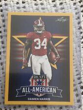 Damien Harris 2019 Leaf Draft Gold All-American Rookie Card (#AA-77)