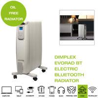 Dimplex EVORAD BT Electric Bluetooth Radiator, 2000W - White/Grey