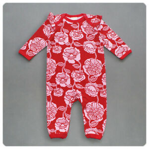 """New """"Lindex"""" Baby Girls Floral All-in-one Romper (Newborn-2yrs)"""