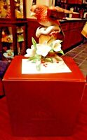 "2011 Lenox Christmas Bird ""Purple Finch"" Porcelain Figurine-MINT in BOX w/ COA"