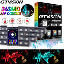 Colorful 36 LED APP Control Ambient Footwell Light Car Interior Decor 16 Color