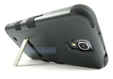 FULL BLACK NATURAL TUFF IMPACT KICKSTAND CASE COVER FOR SAMSUNG GALAXY MEGA 6.3