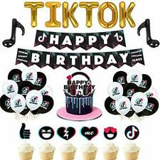SHANXI 54Pcs Tik Tok Birthday Party Decorations - Banner, Balloons, Toppers