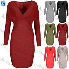 Elastane Stretch Wrap Dresses
