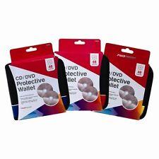 48 Disco Cd/dvd coche soporte cartera de almacenamiento Zip Carry Case Mangas Protector De Bolsillo