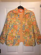 WOMEN CLOTHING 2pc  COLDWATER CREEK Orange Watercolor Blazer And Shirt Plus 20