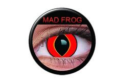 Crazy Contact Lens Lentilles Kontaktlinsen Red Mag Frog Rouge Rot Devil Blood