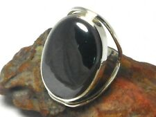 HAEMATITE   Sterling  Silver  925   Gemstone  RING  -  Size :  O