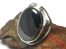 Hematites plata esterlina 925 Anillo de piedras preciosas-Tamaño: o