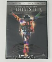 This Is It DVD Michael Jackson Limited Edition 2 Disc Sealed New