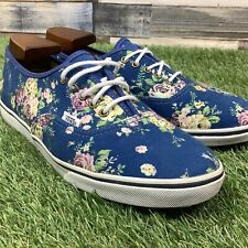 UK7 Womens VANS Floral Canvas Skater Style Shoes - Trainers With Flowers - EU40