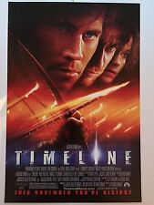 TIMELINE 11X17 ORIGINAL ADVANCE Movie Poster- PAUL WALKER FRANCES O'CONNOR