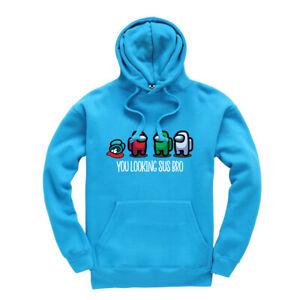 Among Us You Looking Sus Bro Kids Hoodie Gaming Gamer Hooded Sweatshirt