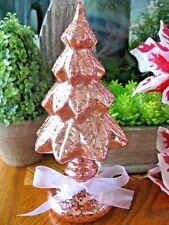 "New Shimmering Blush Pink Iridescent Mercury Glass Decorative Christmas Tree-7"""