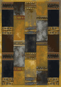 """5x8 Milliken Nomad Butterscotch Rustic Basketweave Area Rug - Approx 5'4""""x7'8"""""""
