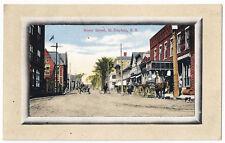 St Stephen New Brunswick ~ Water Street ~ Canada Antique Postcard
