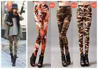 Fashio Women's Funky Sexy Camouflage Leggings Stretchy Pencil Skinny Pants New