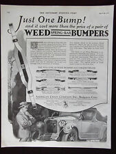 1923 Weed Spring-Bar Bumpers American Chain Co. Bridgeport CT Advertisement