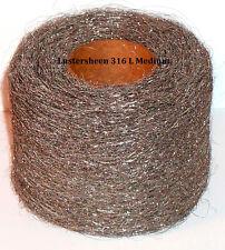 Stainless Steel 316L Wool Roll 1 lb Reel - Medium