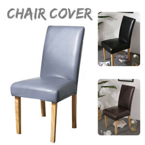 PU Leather Chair Seat Cover Dining Room Wedding Banquet  Home Decor