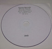 "MONSTER MAGNET ""GODS & PUNKS"" VERY RARE DVD PROMO US SPACE ROCK HTF OOP"
